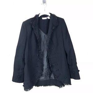 Soft surroundings black military jacket